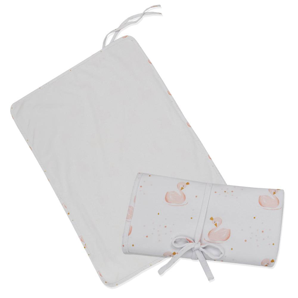 Living Textiles Travel Change Mat Swan Princess
