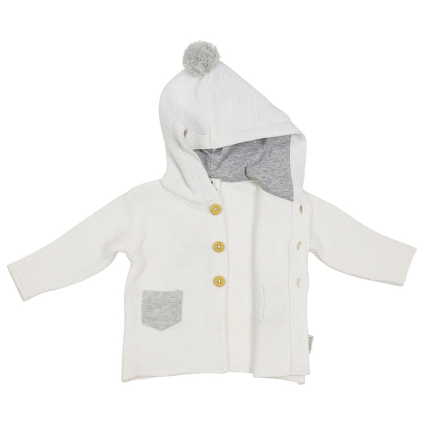 Korango Bunny Knit Jacket with Contrast Pocket