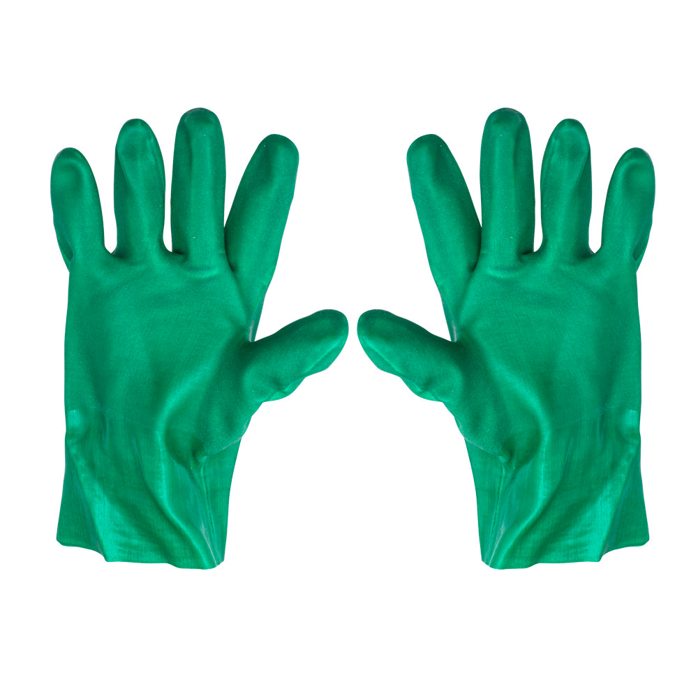 PVC Open Cuff Gloves - Green