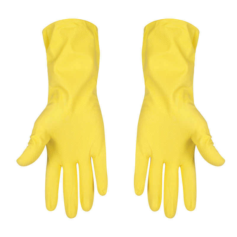 Yellow Latex Household Gloves
