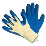 Blue Latex Super Grip Gloves