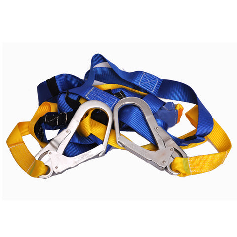 Double Lanyard Harness With Scaffold Hooks