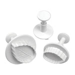Mondo Rose Leaf Plunger Cutter Set of 3 - Create That Cake