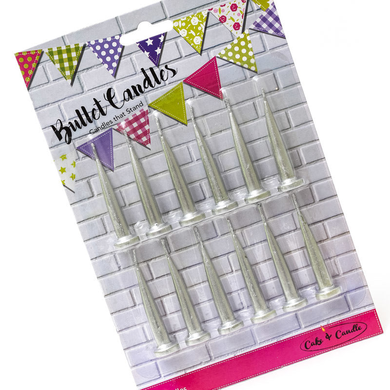 Create That Cake Cake Candles Freestanding Pack of 12 - Various Colours - Create That Cake