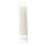 Pearlised White 12cm Tall Candles Pack of 12 - Create That Cake
