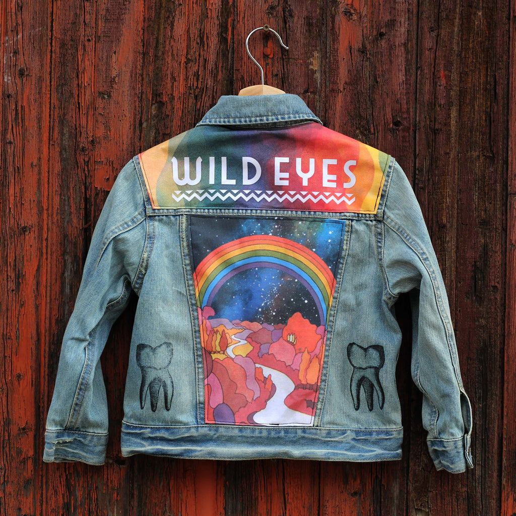 Rainbow Path Unisex Cosmic Denim Jacket
