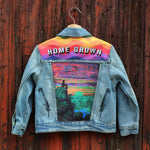 Cosmic Sunrise Unisex Kids Denim Jacket