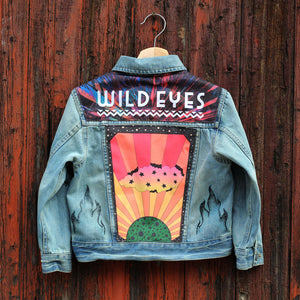 Planet Rise Unisex Kids Denim Jacket