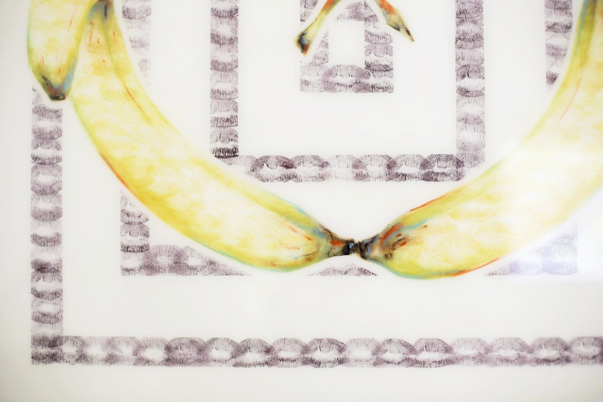Lipstick Lex - Original Banana Art / Lipstick and Kiss Prints!
