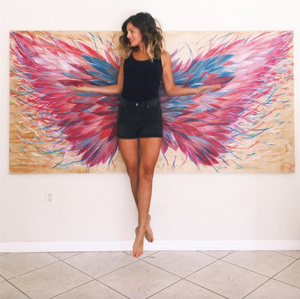 "Fly Baby Fly - 96"" x 48"""