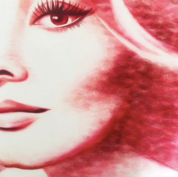 Sophia Loren, celebrity art, lipstick art, makeup artist, kisses, hollywood art