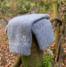 Cashmere Fingerless Mitts Warm Grey