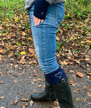 Cashmere Fingerless Mitts Classic Navy Pre-order