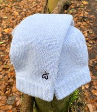 Cashmere Fingerless Mitts Pale Winter Blue Pre-order