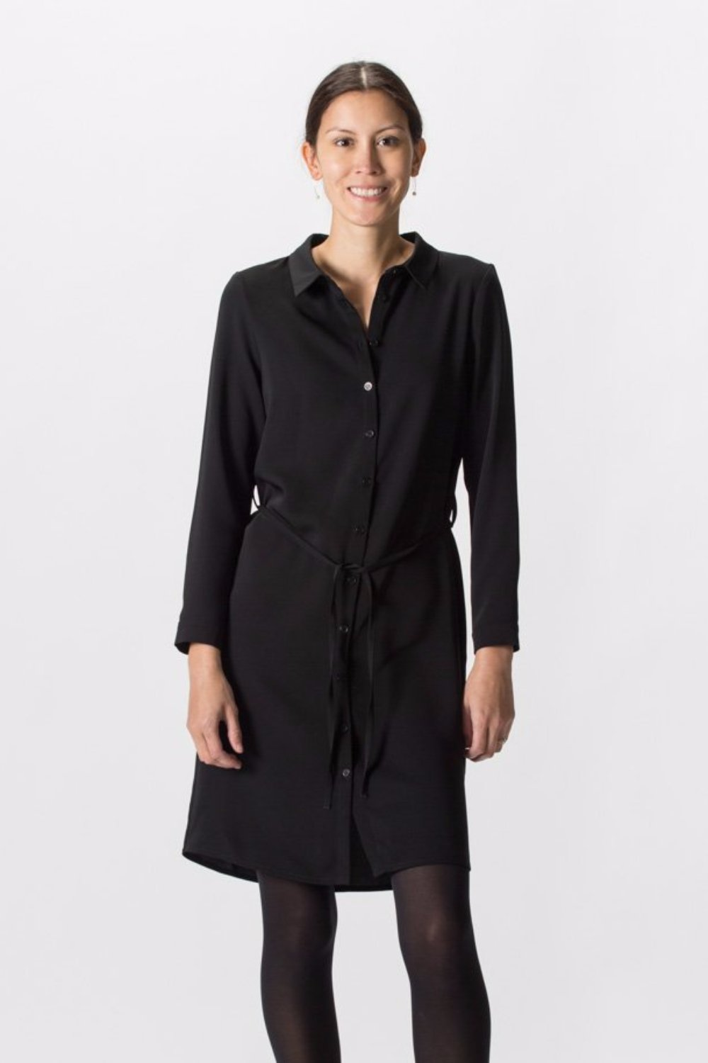 Paris Shirt Dress Black