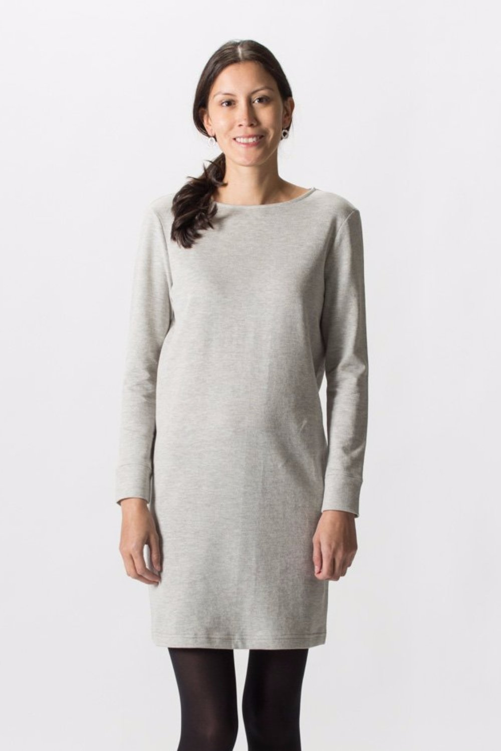 Lucille Jersey Dress - Herringbone