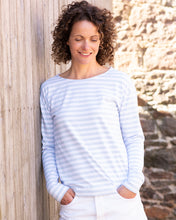 Breton Tee - Baby Blue and White