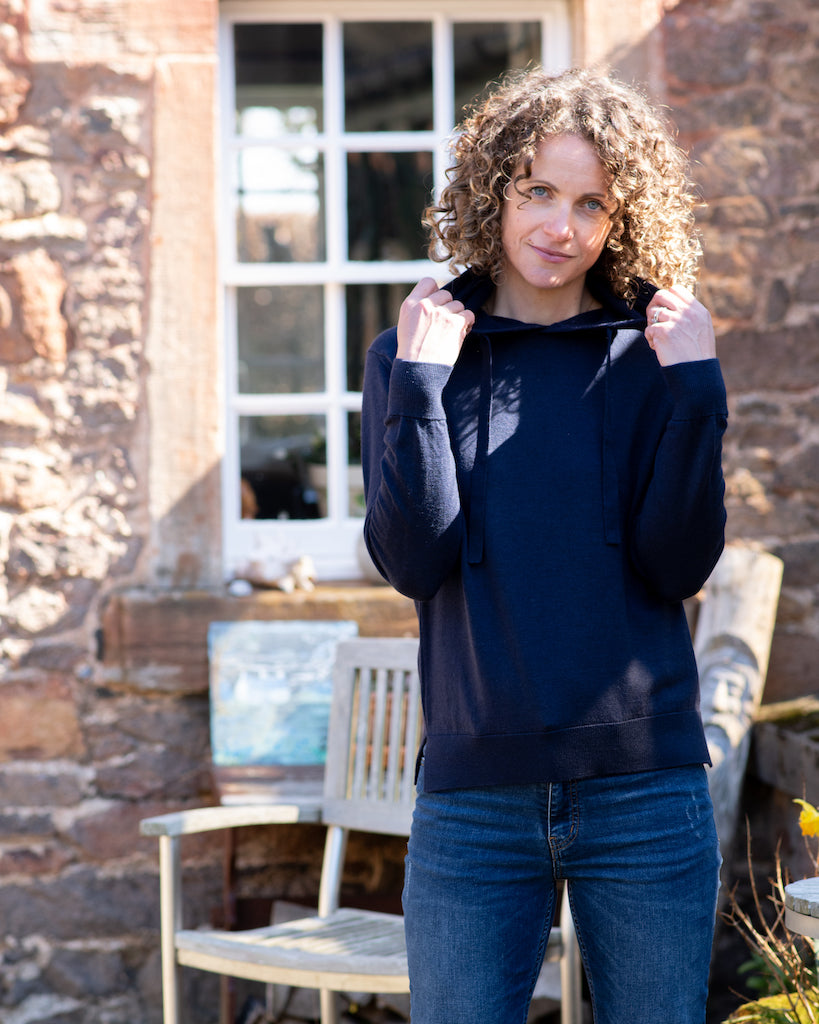 Hooded Jumper - Classic Navy