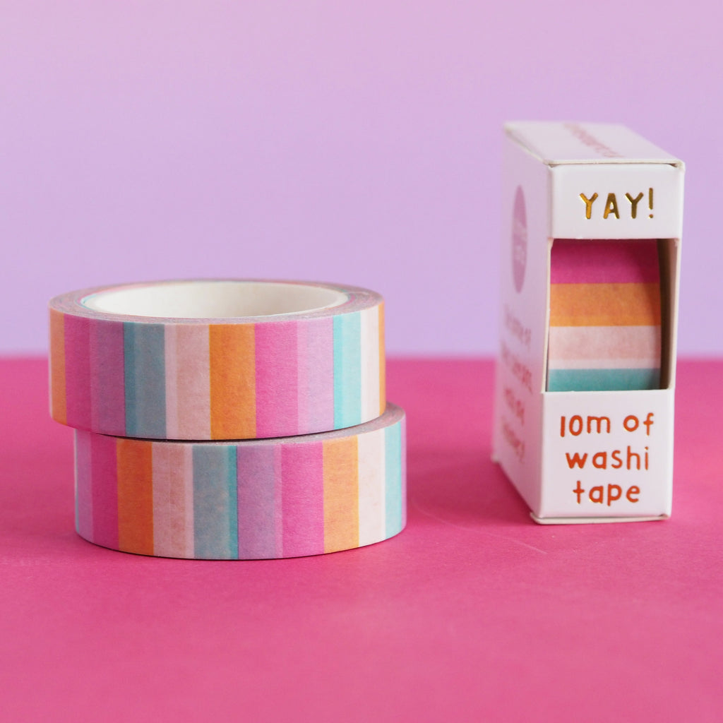 Candy Stripes Washi Tape - Nutmeg and Arlo