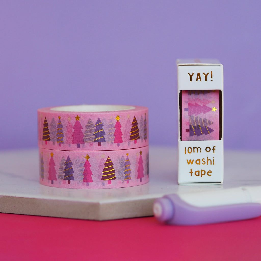 Christmas Trees Washi Tape - Nutmeg and Arlo