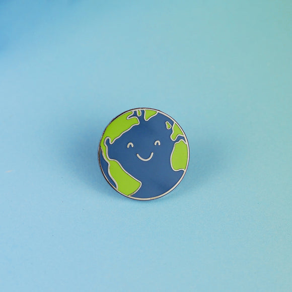 Happy Earth Pin