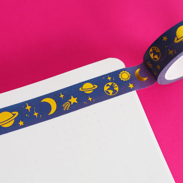 Gold Foil Space Washi by Nutmeg and Arlo