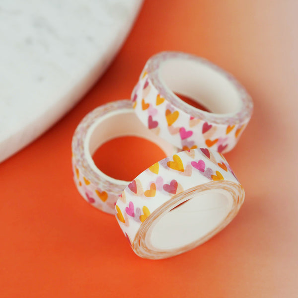 Hearts Washi Tape - Nutmeg and Arlo