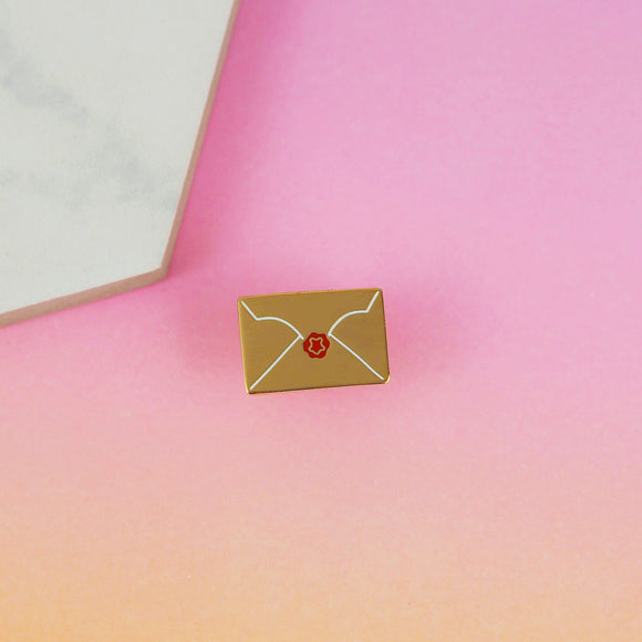 The Golden Letter Pin