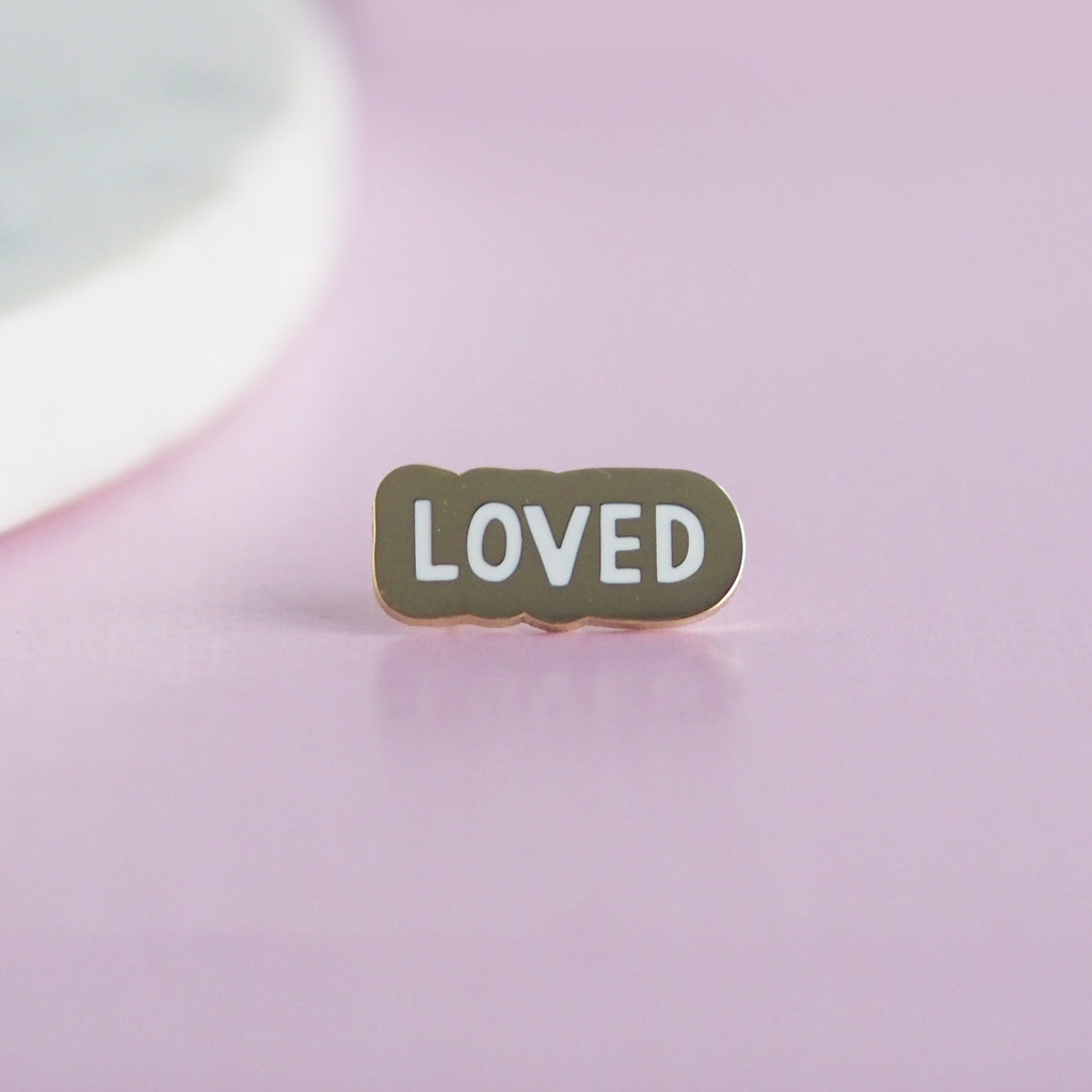You Are Loved Enamel Pin - Nutmeg and Arlo