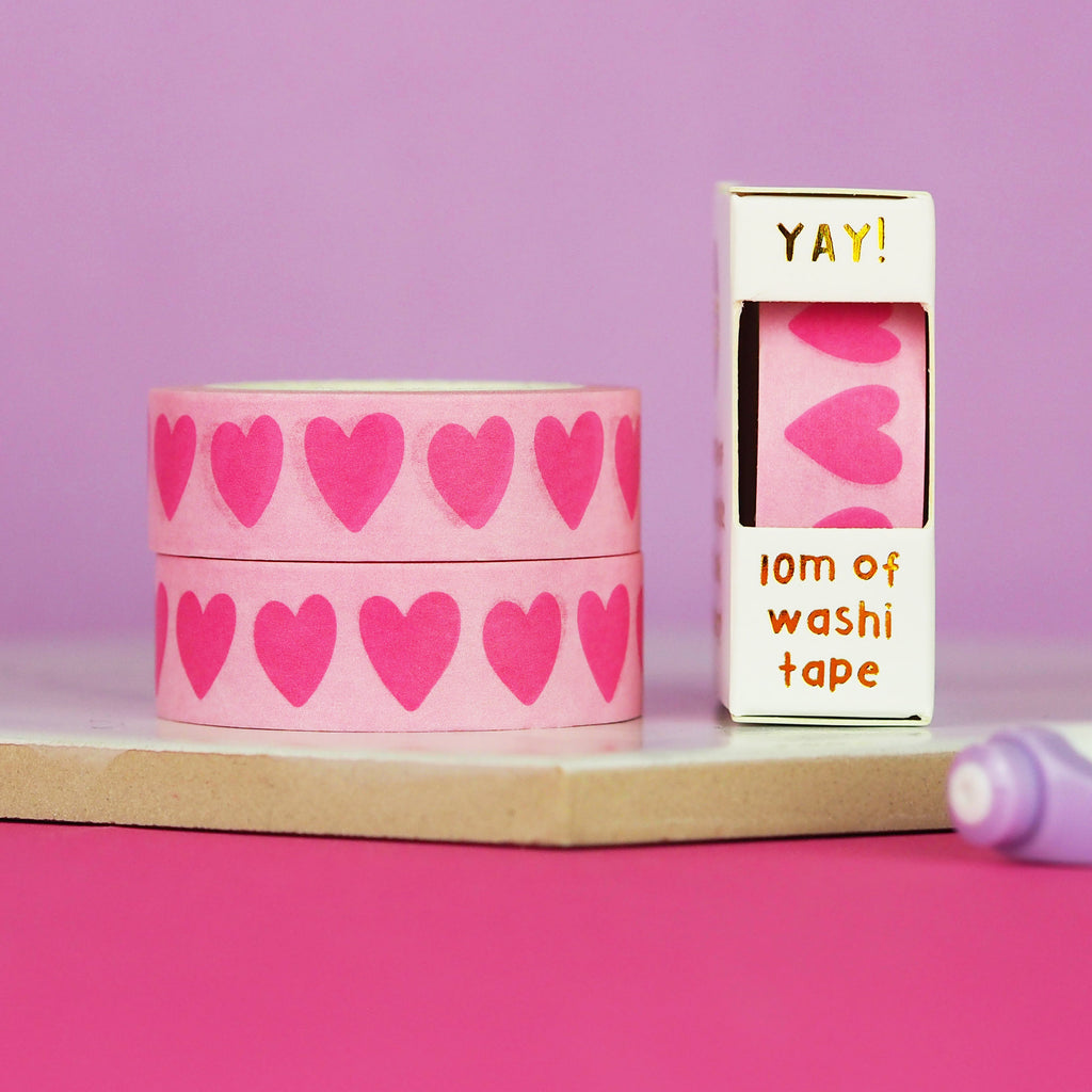 Loveheart Washi Tape - Nutmeg and Arlo