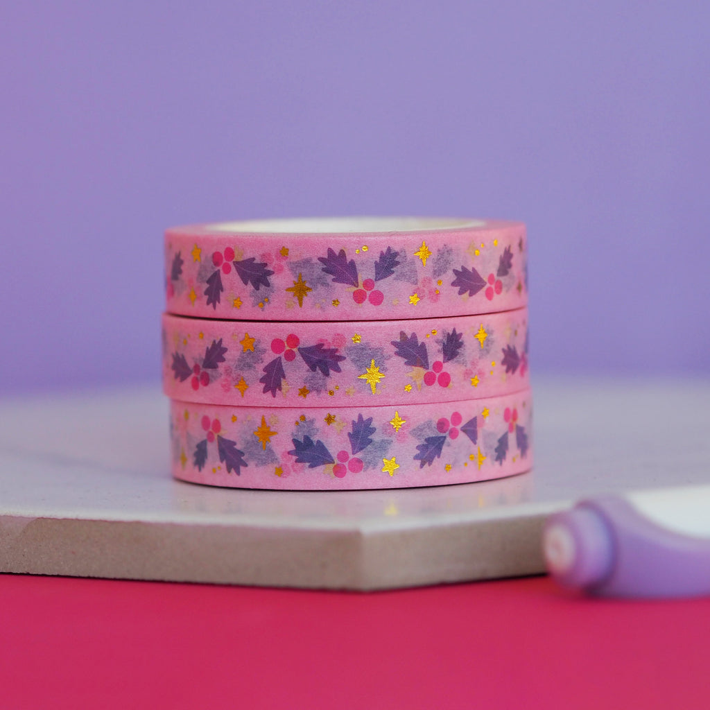 Mistletoe Washi Tape - Nutmeg and Arlo