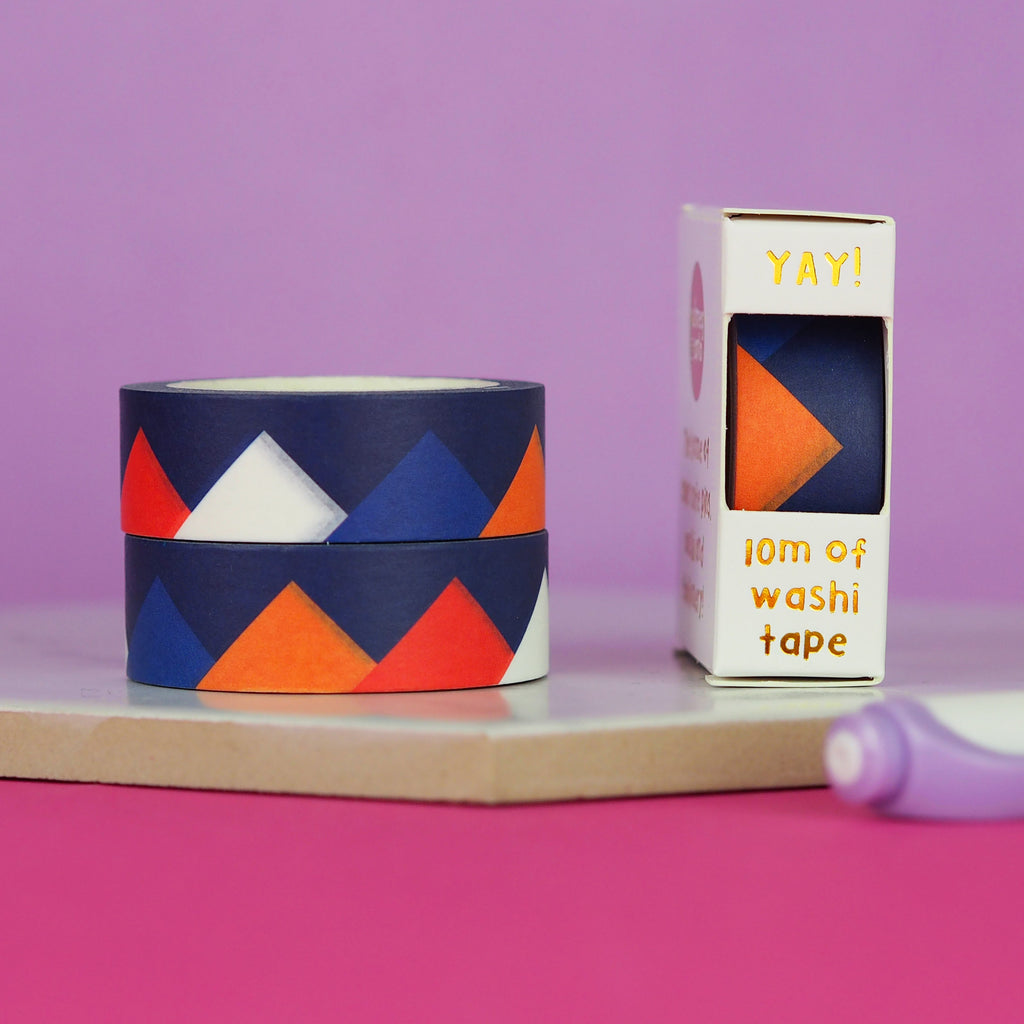Navy Peaks Washi Tape - Nutmeg and Arlo