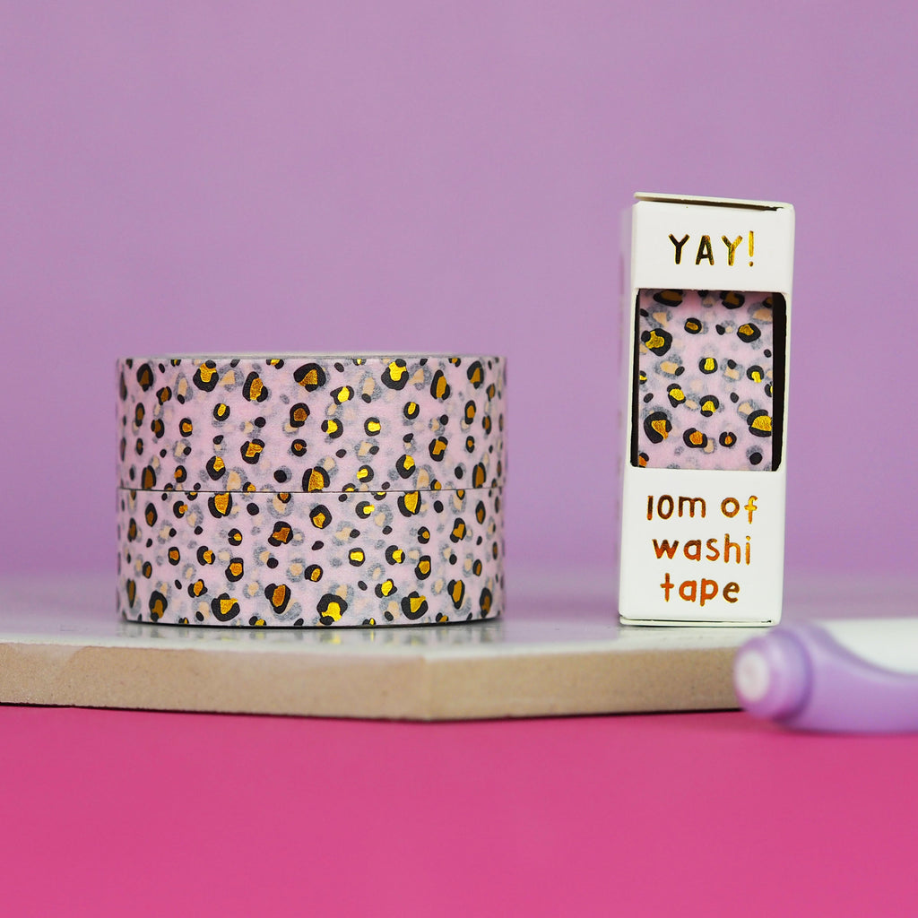 Pastel Leopard Print Washi Tape - Nutmeg and Arlo
