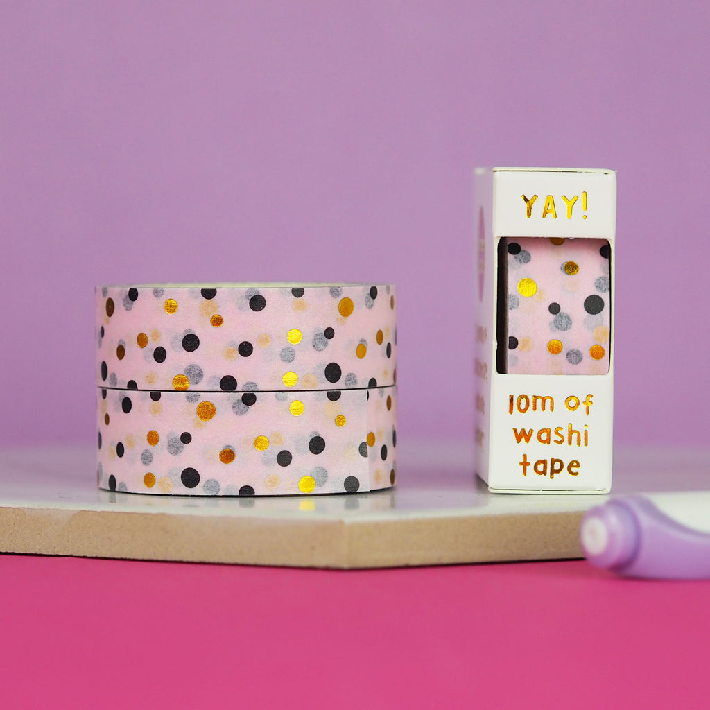Pastel Polka Dot Washi Tape - Nutmeg and Arlo