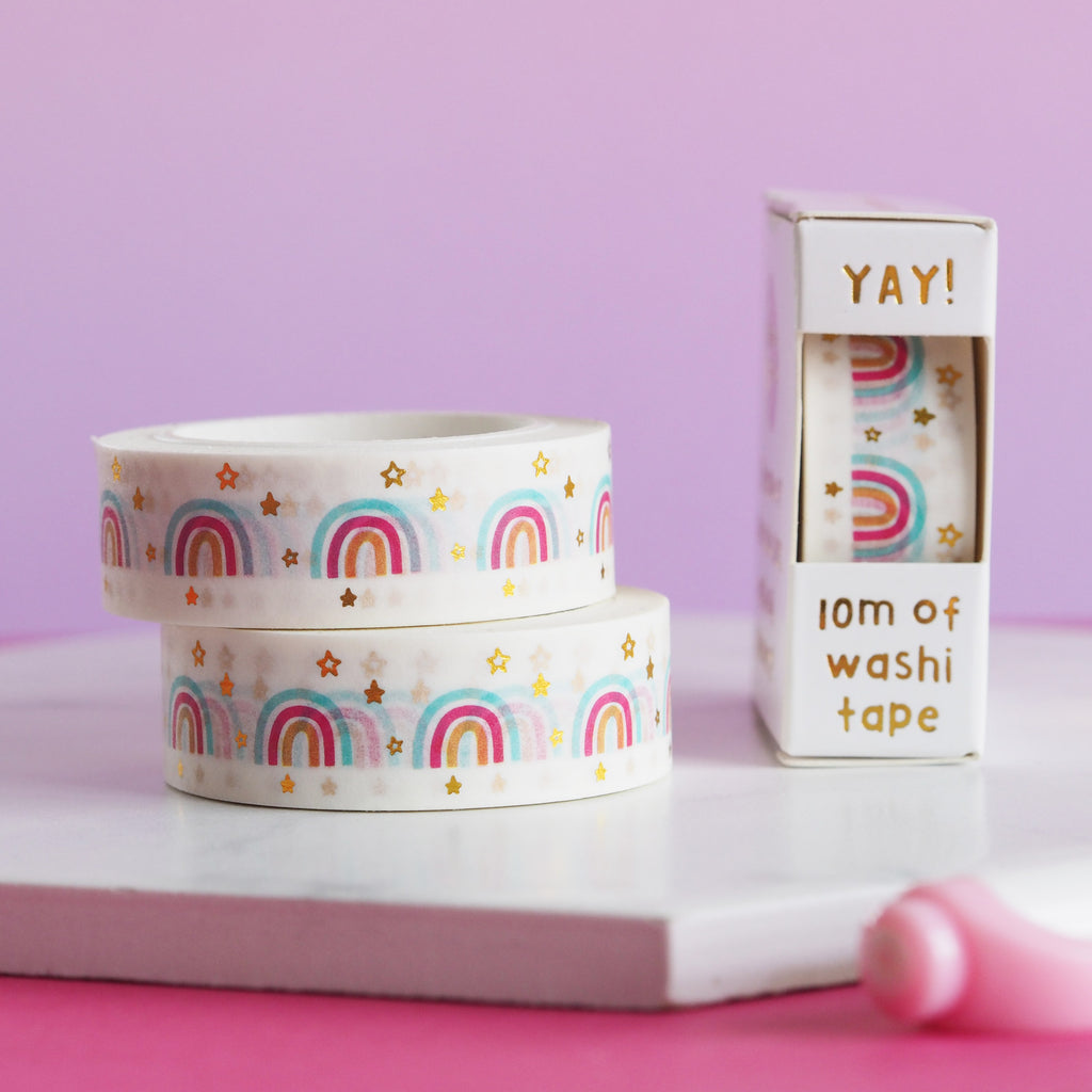Rainbows and Stars Washi Tape - Nutmeg and Arlo