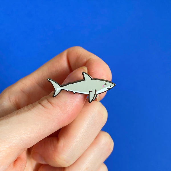 Great White Shark Pin - Nutmeg and Arlo