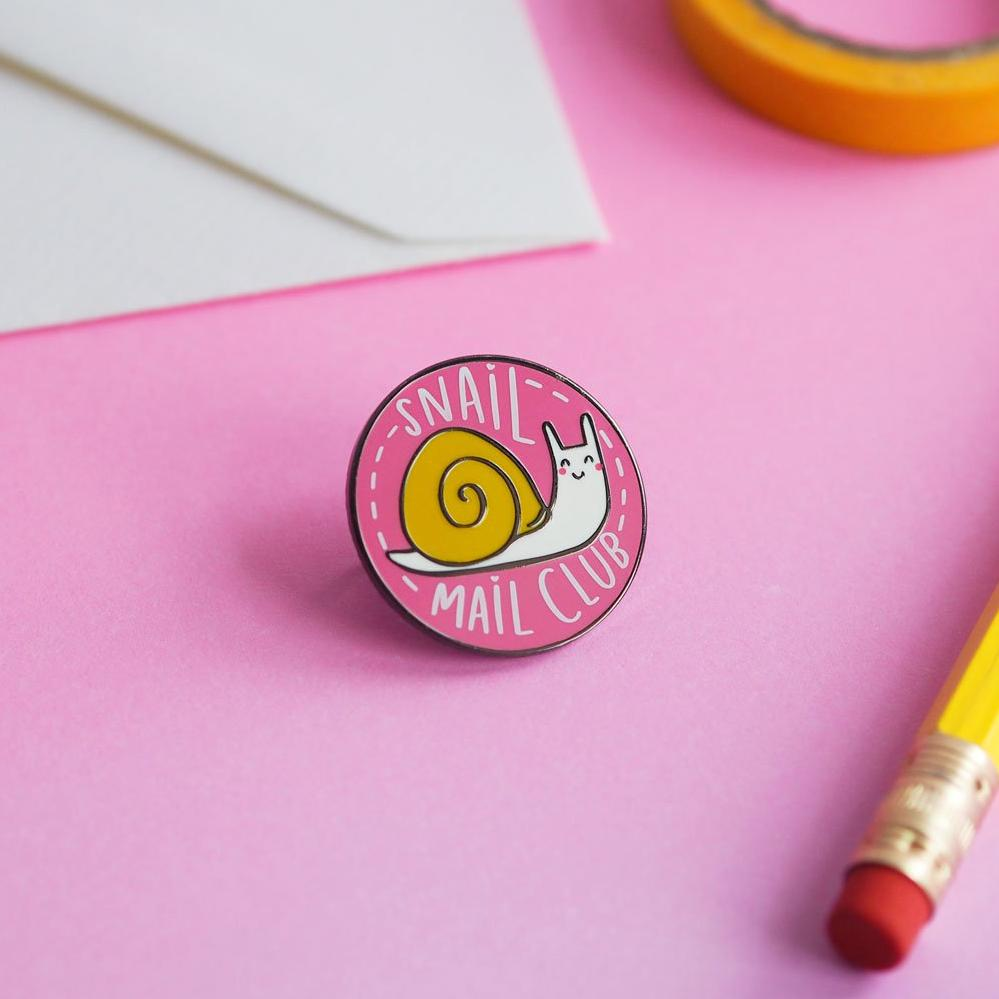 Snail Mail Club Pin - Nutmeg and Arlo