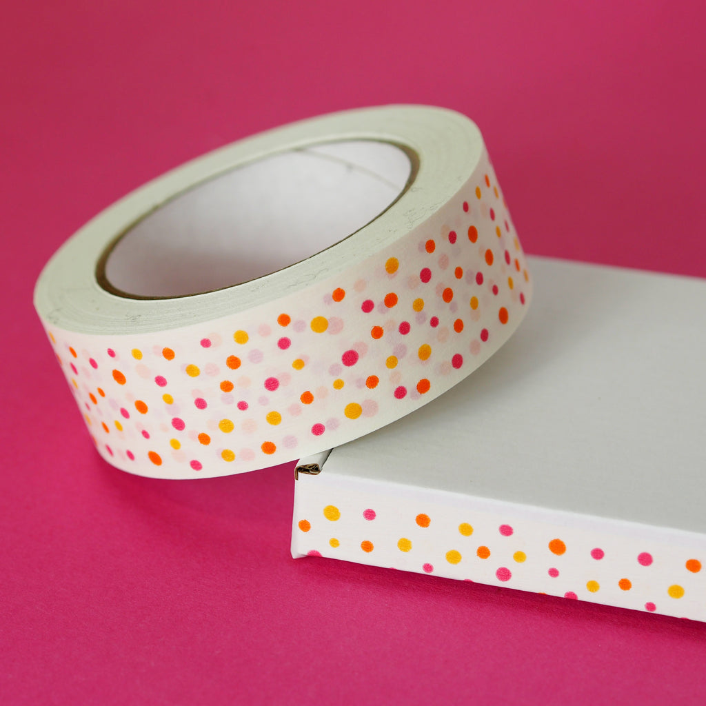 Spotty Recyclable Parcel Tape - Nutmeg and Arlo