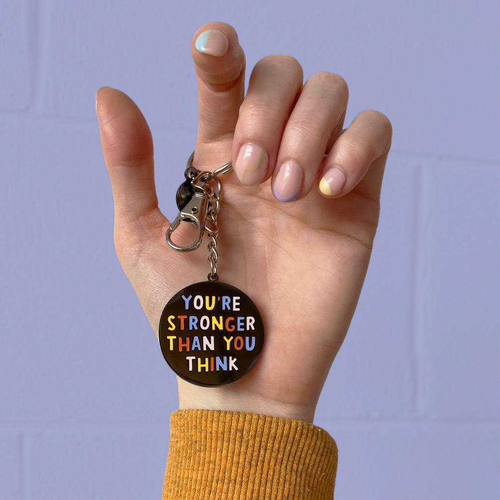 Stronger Than You Think Keychain - Nutmeg and Arlo