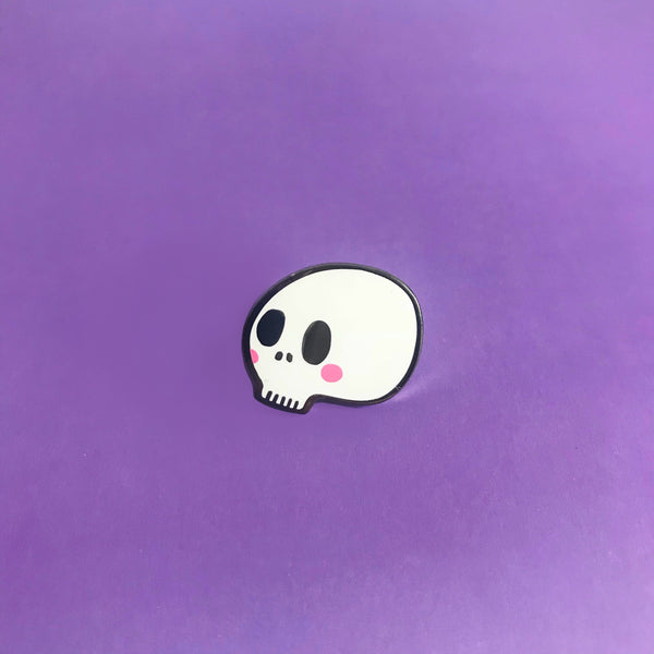 Cute Skull Pin - Nutmeg and Arlo