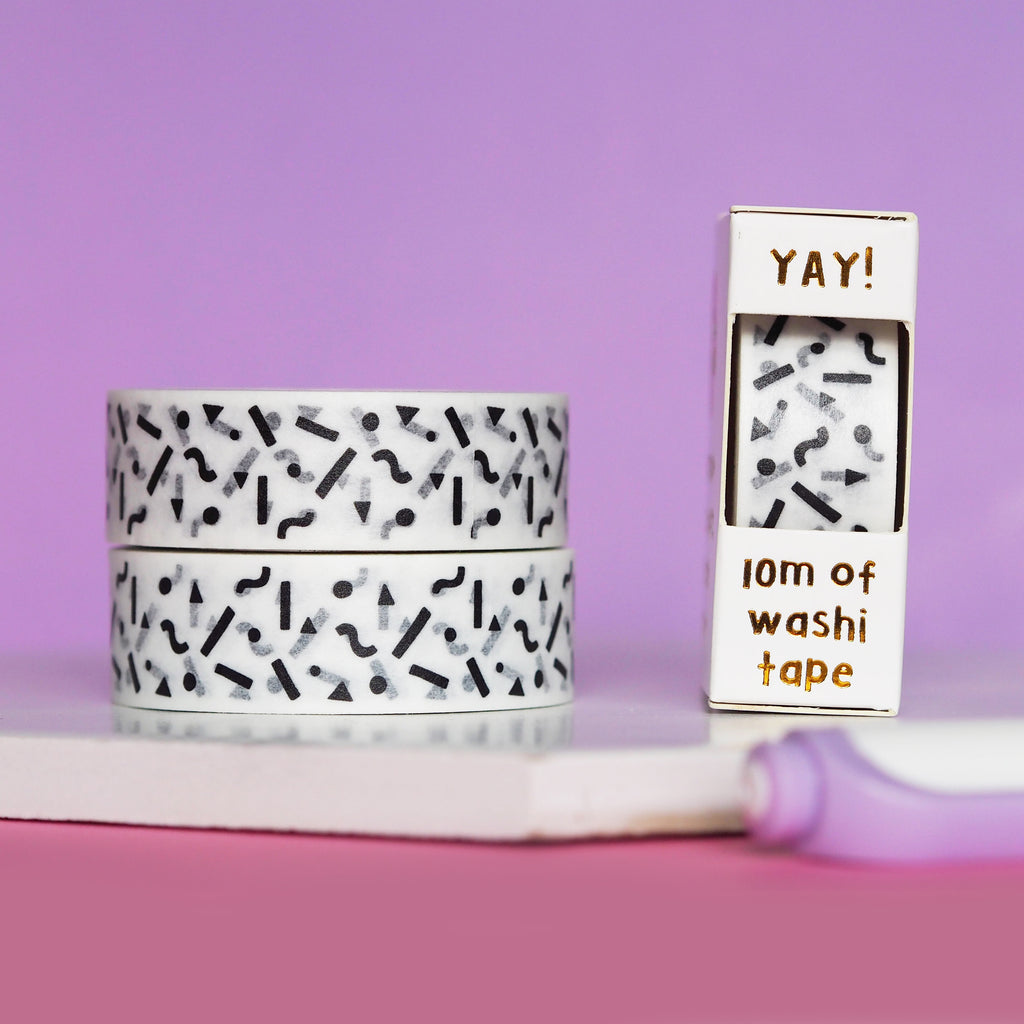Black Squiggles Washi Tape - Nutmeg and Arlo