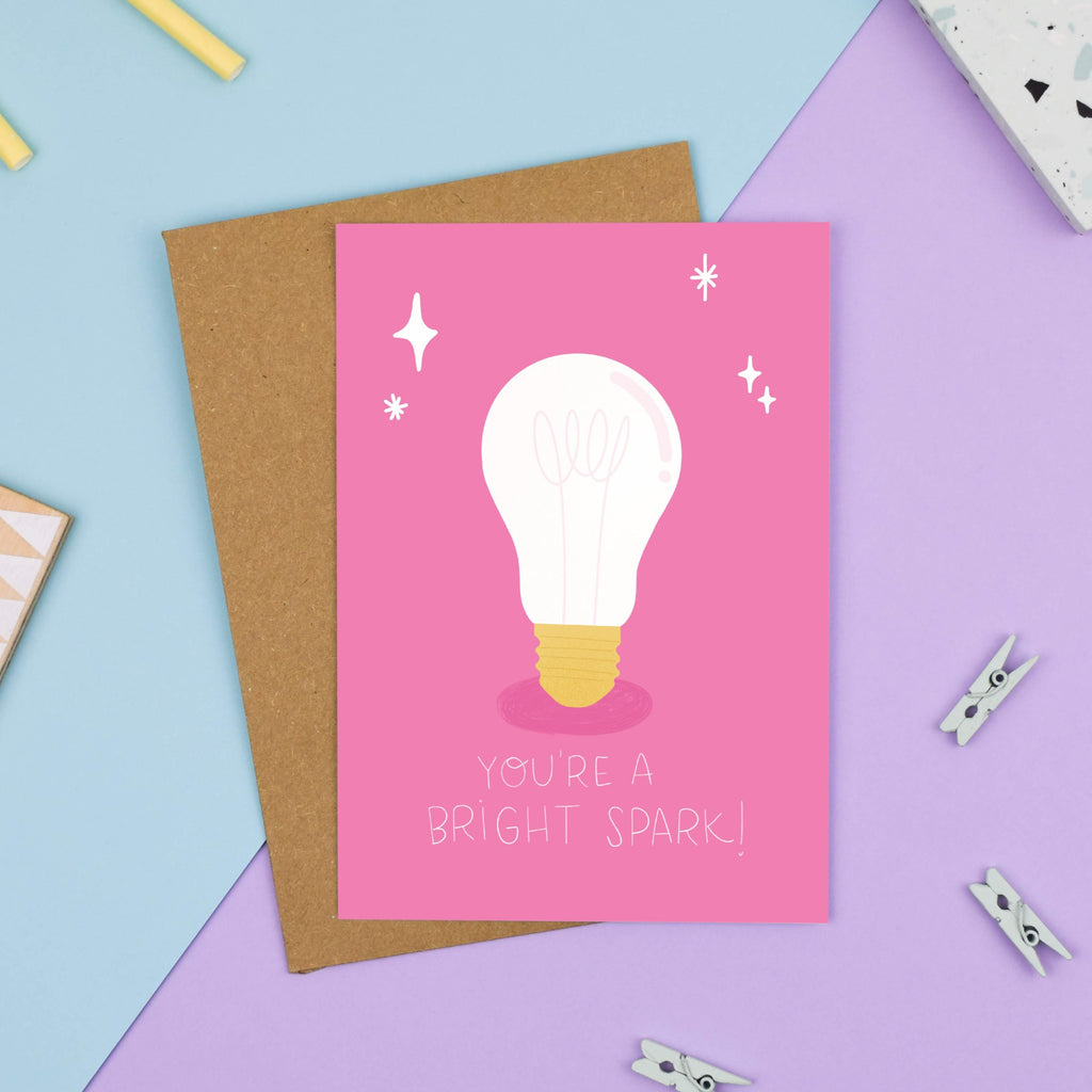 You're a Bright Spark Card - Nutmeg and Arlo