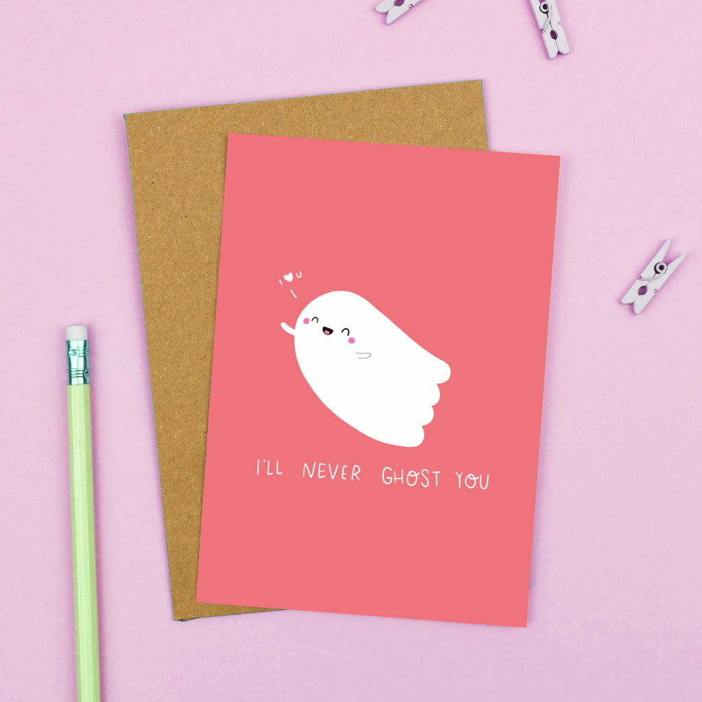 I'll Never Ghost You Card - Nutmeg and Arlo