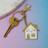 Happy House Keychain