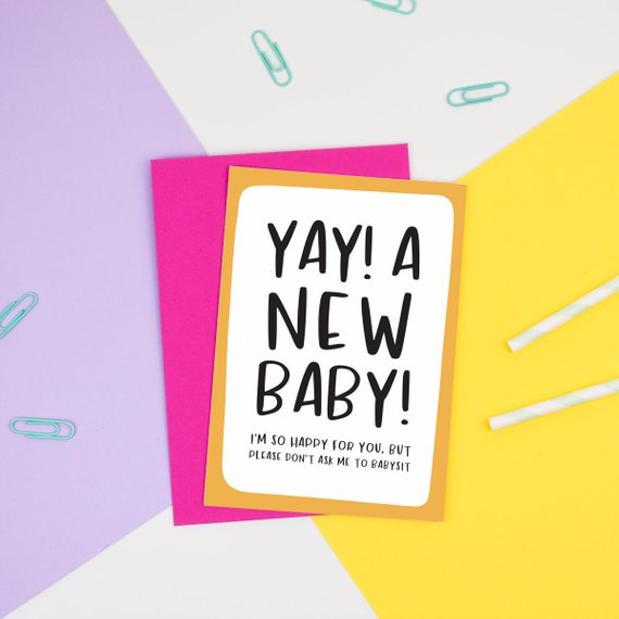 YAY! A New Baby! Card - Nutmeg and Arlo