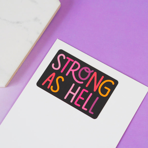 Strong As Hell Vinyl Sticker - Nutmeg and Arlo