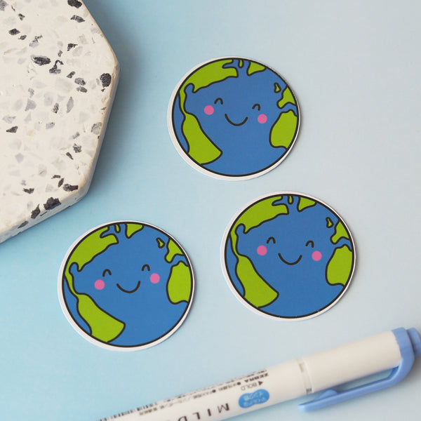 Earth Sticker - Nutmeg and Arlo