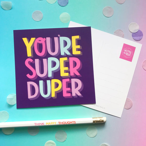 You're Super Duper Postcard - Nutmeg and Arlo