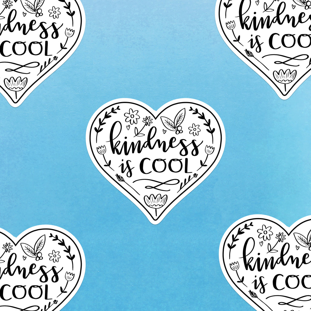 Kindness is Cool Sticker - Nutmeg and Arlo