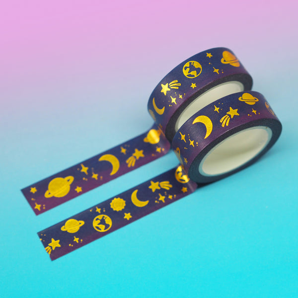 Space Washi Tape - Nutmeg and Arlo
